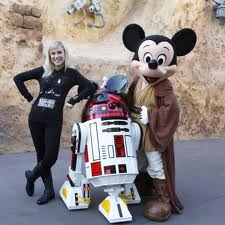 Ashley, Mickey, and R2-MK