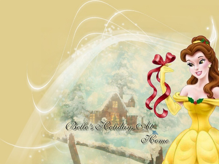 Disney Christmas images Belle-3-disney-princess wallpaper and ...