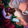 Can I be your present? - sesshomaru fan art