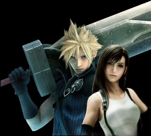 ElafTalebHEJ Wallpaper Possibly With A Sign Titled Cloud And Tifa