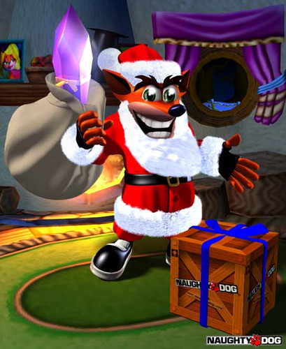 Crash Bandicoot fond d'écran called Crash Claus