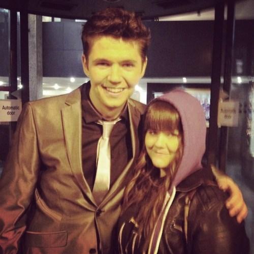 Damian with an Irish fã :)