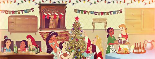 Disney Princesses' Christmas Celebration