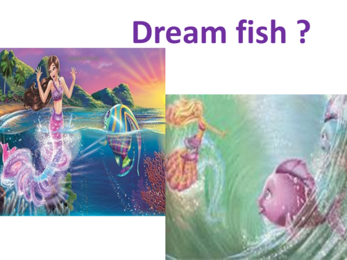 Do tu think its a dream fish??