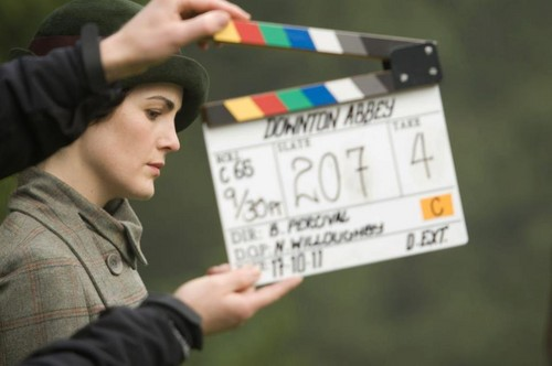 Downton Abbey 壁纸 called Downton 圣诞节 Behind Scenes