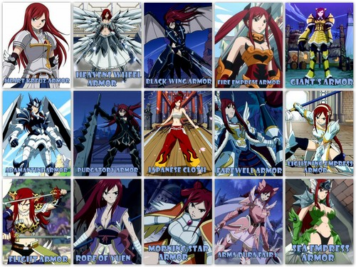 fairy tail fondo de pantalla possibly containing anime called ERZA'S ARMORS