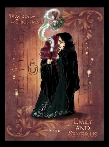 Emily+Severus Chibis - Magical Рождество