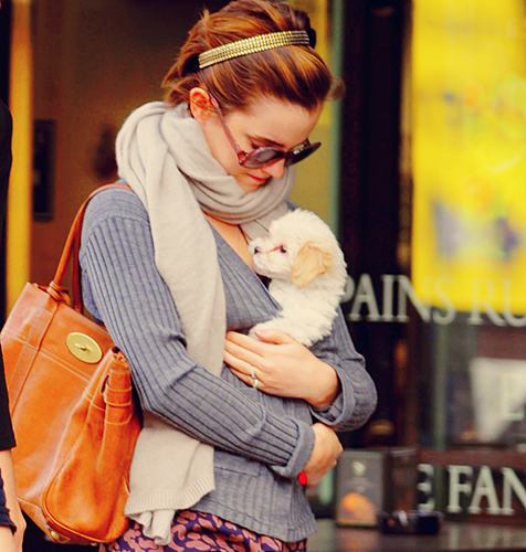 Emma and dog!