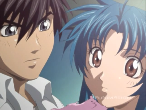 FULL METAL PANIC wallpaper with anime called Full Metal Panic ( Kaname & Sousuke )