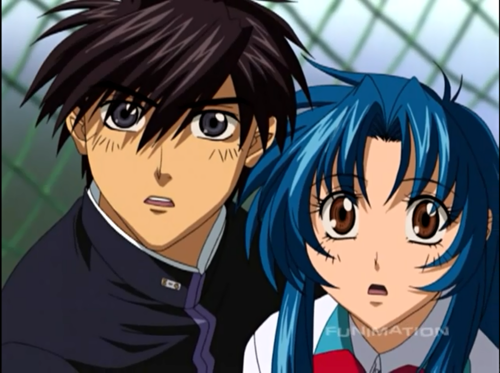 FULL METAL PANIC wallpaper containing anime entitled Full Metal Panic ( Kaname & Sousuke )