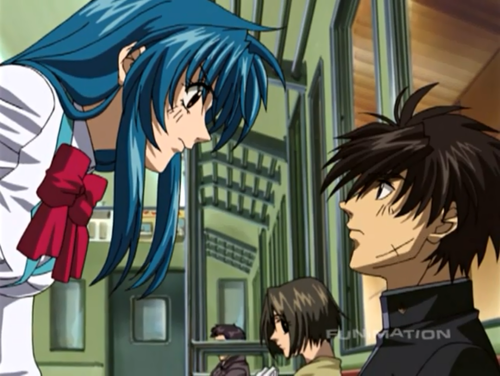 FULL METAL PANIC Hintergrund containing Anime called Full Metal Panic ( Kaname & Sousuke )