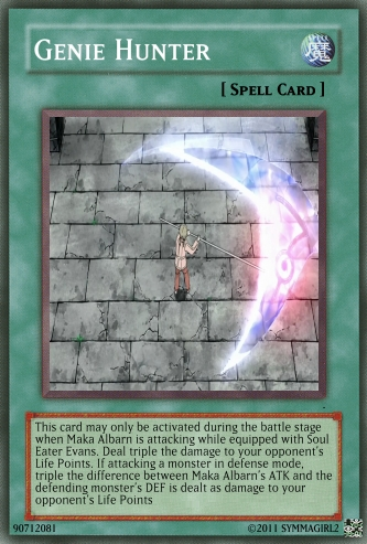 Soul Eater (Пожиратель душ) Обои titled Genie Hunter YuGiOh! card