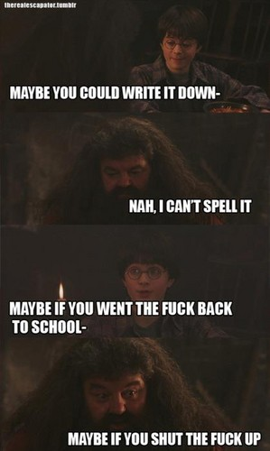 Hagrid Can't Spell