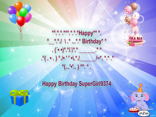 Happy Birthday Supergirl9374