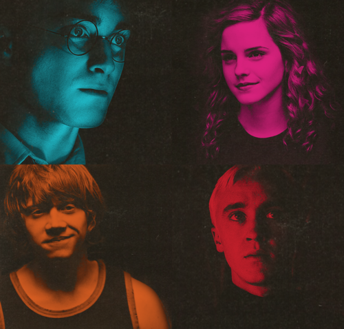 Harry, Ron, Hermione & Draco