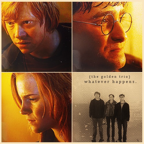 Harry, Ron and Hermione wallpaper entitled Harry, Ron and Hermione