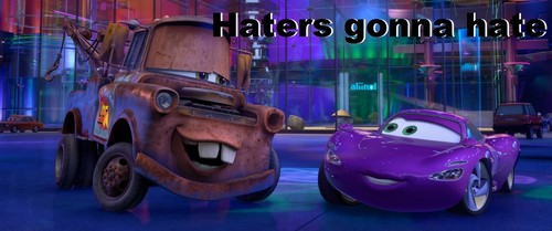 Disney Pixar Cars 2 wallpaper possibly with a minicar called Haters Gonna Hate