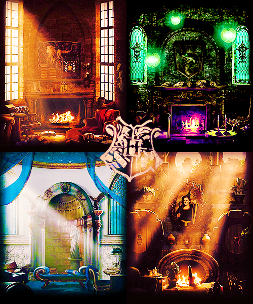 Hogwarts Houses Common Rooms