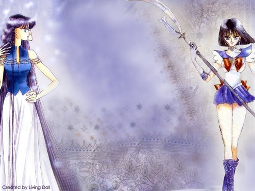 Bakugan and Sailor Moon! wallpaper called Hotaru and Mistress 9