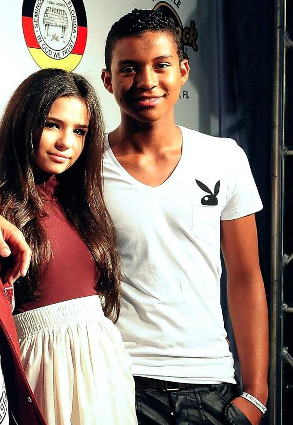jaafar jackson 's new girlfriend ? she looks like selena gomez