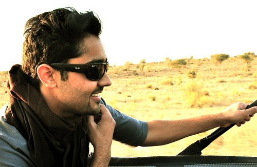 photo of Manish Dayal  - car