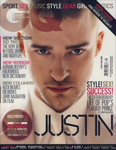 Justin Timberlake on cover