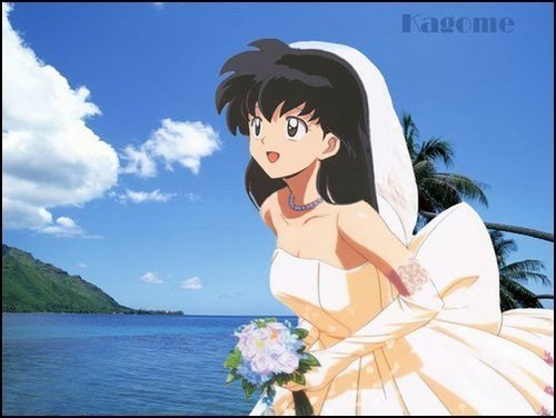Kagome's wedding hari