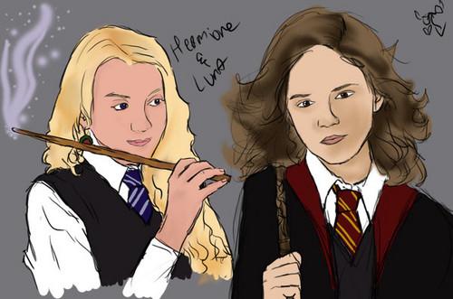 Luna Lovegood and Hermione Granger
