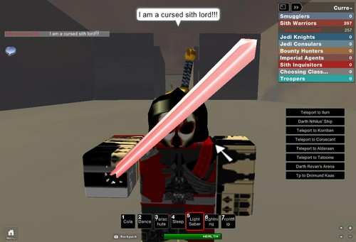 Me on Roblox On Starwars The old Republic RP
