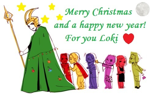 Loki (Thor 2011) achtergrond possibly containing anime called Merry Christmas Loki!