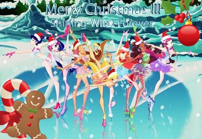Рождественские картинки Винкс Клуб и игра одевалка!