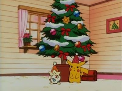 Pokémon wallpaper probably containing a front porch entitled Merry Pokemon Christmas!