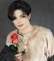 Michael Gives you a rose - michael-jackson photo