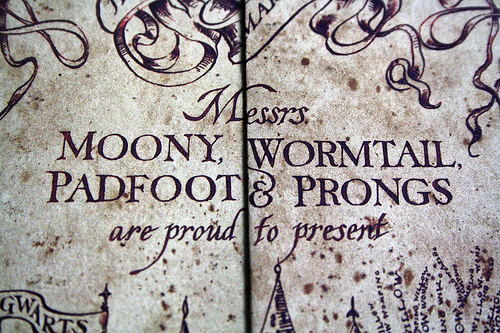 Moony,Wormtail,Padfoot And Prongs
