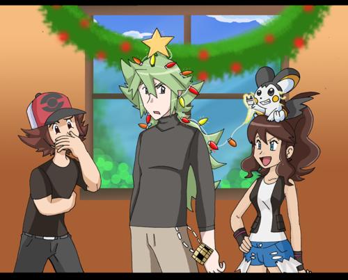 N the christmas درخت
