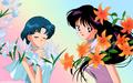 sailor-mercury - Princess Mercury and Princess Mars wallpaper