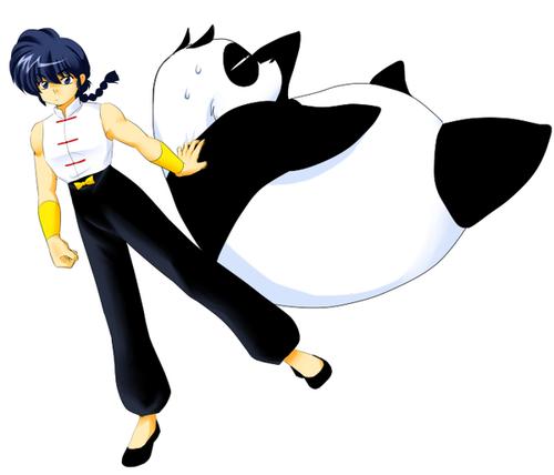 Ranma Saotome (& Genma-Panda)