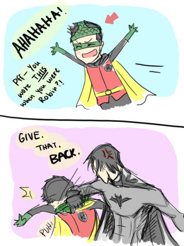 Robin jokin' around XD