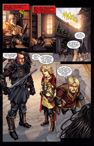 Sandor in A Game Of Thrones Comic