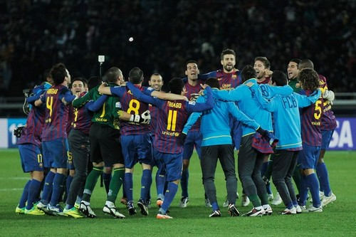 Santos FC (0) v FC Barcelona (4) - FIFA Club World Cup Final: Celebration