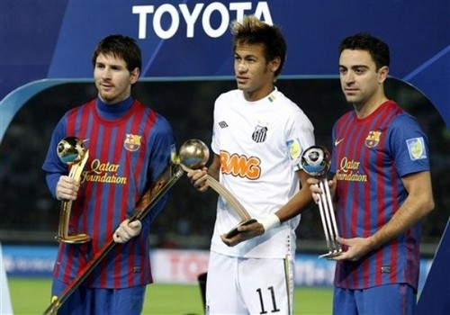 Santos FC (0) v FC Barcelona (4) - FIFA Club World Cup Final: Messi, Neymar & Xavi