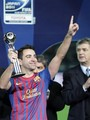 Santos FC (0) v FC Barcelona (4) - FIFA Club World Cup Final: Xavi recieves the Silver Ball - xavi-hernandez photo