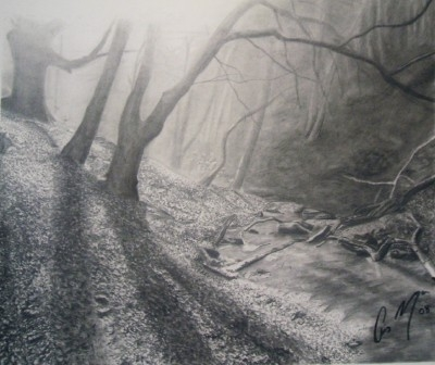 Drawing দেওয়ালপত্র entitled Scenery