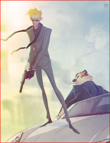 Secret Agent Calvin and Hobbes by kizer180