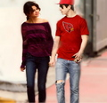 Selena and David strolling - dalena fan art