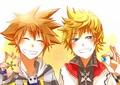 Sora and Roxas - kingdom-hearts-2 photo