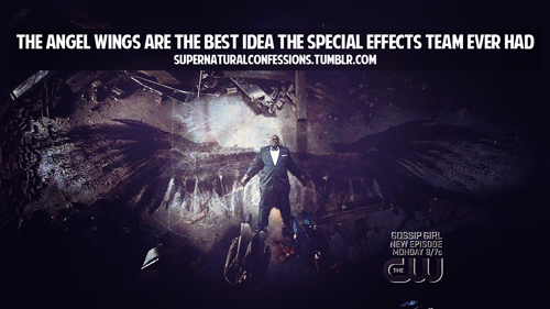 Supernatural wallpaper with anime titled Supernatural Angel Confessions