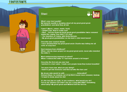 TDROTI Character Bios - total-drama-revenge-of-the-island-tdroti Screencap