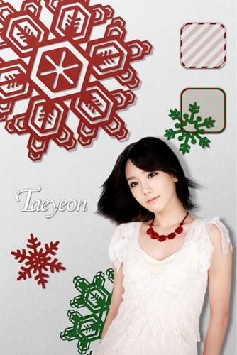 Taeyeon @ skin winter gift app - Individual wallpaper