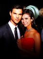 Taylor Lautner and Nina Dobrev - the-vampire-diaries-tv-show photo